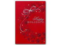 Radiant Red Wreath Holiday Cards